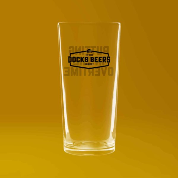 Lager Nucleated Pint Glass