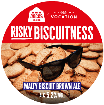 Docks Beers x Vocation - Risky Biscuitness Malty Biscuit Brown Ale 5.2%