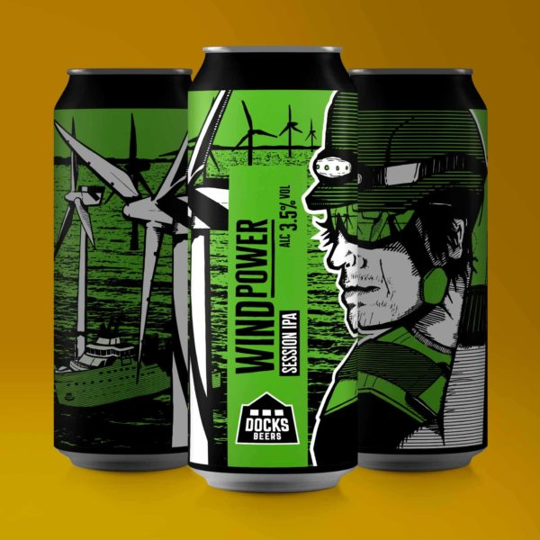 Docks Beers Wind Power Session IPA cans