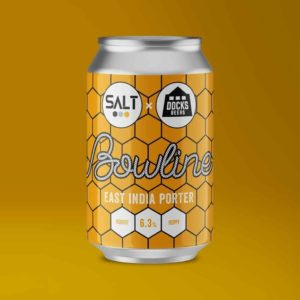 Salt Beer Factory x Docks Beers Bowline East India Porter cans