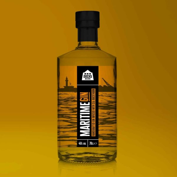 Docks Beers Maritime Gin - Sea Buckthorn Infused Gin 70cl bottle