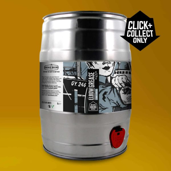 Docks Beers Elbow Grease Stout Porter - 5l Mini Keg