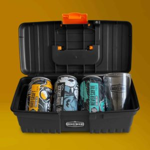 Docks Beers Small Toolbox gift set, opened