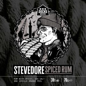 Docks Beers Stevedore Spiced Rum label