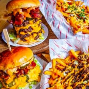 Slap and Pickle burgers and fries - Street food at Docks Beers