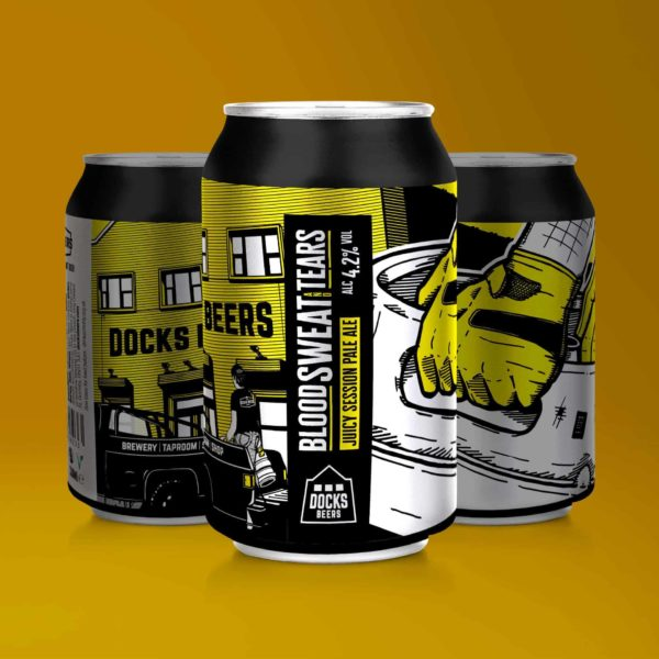 Docks Beers Blood Sweat & Tears Juicy Session Pale Ale - 330ml cans