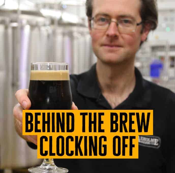 Docks Beers head brewer Mike Richards with Clocking Off
