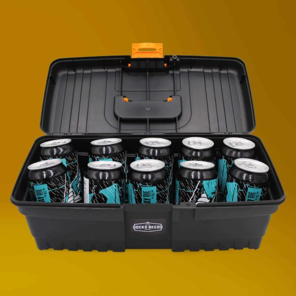 Docks Beers Never Say Die Toolbox Gift Set with 10 x 330ml cans