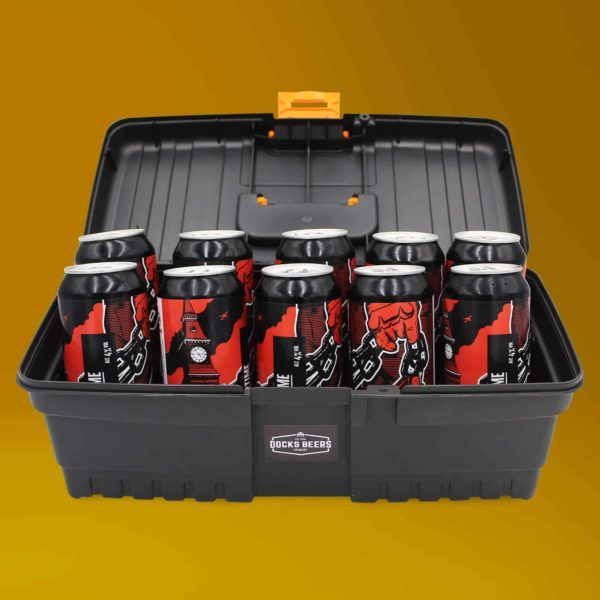 Docks Beers Overtime Toolbox Gift Set with 10 x 440ml cans